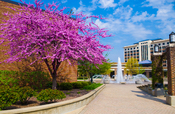English: The fountain at Dede Plaza on the campus of Indiana State University.
