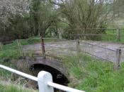 English: Bridge over River Brett, Brent Eleigh Bridge near Hill Farm.