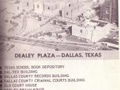 English: Picture of Dealey Plaza in downtown Dallas, Texas (USA) Warren Commission exhibit #876