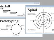 English: There is a set of more general approaches, which are developed into several specific methodologies. These approaches are: Waterfall: linear framework type Prototyping: iterative framework type Incremental : combination of linear and iterative fra