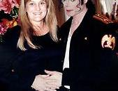 Michael Jackson and Debbie Rowe on their wedding day