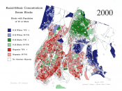 Racial concentrations in the Bronx.