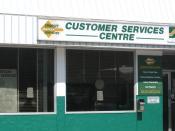 Customer Service center at 23d Street downtown terminal