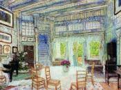 Столовая в доме доктора Вангеля. 1905 Эскиз декорации к драме Г. Ибсена