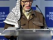English: Yasser Arafat at 'From Peacemaking to Peacebuilding' at the Annual Meeting 2001 of the World Economic Forum