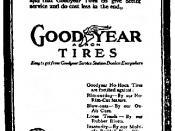 English: Goodyear Tires Advertisement