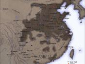 The Chinese Qin empire in 210 BC