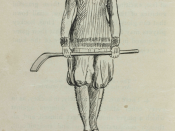 Illustration of a female ice hockey player