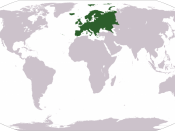 World map depicting Europe Esperanto: Mondmapo bildiganta Eŭropon Español: Ubicación de Europa