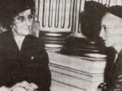 Evita Perón first lady of the Argentina and Golda Meir, israelian politician and future prime minister of Israel, 9th of April 1951.