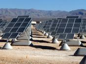 The largest photovoltaic solar power plant in the United States is becoming a reality at Nellis Air Force Base. When completed in December, the solar arrays will produce 15 megawatts of power