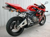2006 Honda CBR600RR in red/black. Camera used was a Nikon Coolpix 5000.