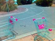 two shopping trolleys an example of the imagery used in the online Game DBOLRL