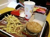 English: A Big Mac combo meal with French fries and Coca-Cola served at a McDonald's in Louisvile, Kentucky.