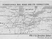 Pennsylvania Railroad map November 3, 1857