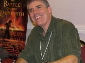 Rick Riordan at the 2007 Texas Book Festival, Austin, Texas, United States.
