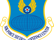 English: United States Air Force Security Assistance Center emblem.