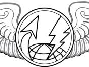English: United States Air Force Sensor Operator Badge. Made with Photoshop.