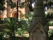 English: Camperdown Cemetery Sydney, the monument to Samuel Turton, 1817-91, Sunday School teacher of Christ Church St Lawrence
