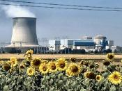 Original Image: :Image:Nuclear Power Plant.jpg Obtained free of copyright from Anna Gomez, Nuclear Energy Institute, Media@nei.org 9/227/2005 - Typical two-unit nuclear power plant with cooling tower, turbine building and reactor containment buildings sho