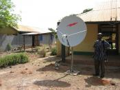 The SEND foundation installed a satellite in order to improve connectivity. VSAT at the Project Office in Salaga.