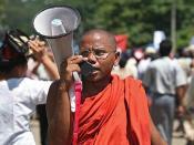 Burma Brave Buddhist Monk Leader Ashin Htavara