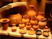 Golden Horde ceramic ware from State Historical Museum, Moscow Français : Céramiques datant de la Horde d'Or, Musée historique d'État de Moscou, Russie