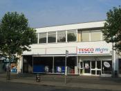 First self service Tesco, St Albans, England Русский: Первый магазин самообслуживания Tesco, открытый в 1948
