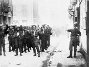 Canadian prisoners being led away through Dieppe after the raid.Credit: Library and Archives Canada / C-014171