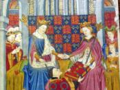 John Talbot, 1st Earl of Shrewsbury, presents the Book of Romances (Shrewsbury Book) to Margaret of Anjou, wife of King Henry VI