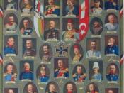 English: Postcard depicting the leaders of the Central Powers.