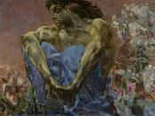 Lermontov's Demon as interpreted by Mikhail Vrubel, 1890
