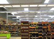 English: Shelves of packaged food inside a Ralphs grocery store in Los Angeles.