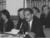 English: Deputy Attorney General Eric Holder opened an Interagency Working Group meeting of the White House Initiative on Asian Americans and Pacific Islanders hosted by the Department of Justice on October 18, 2000, which addressed LEPissues. In the imme