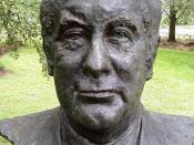 English: Bust of the twenty-first Prime Minister of Australia en:Gough Whitlam by sculptor Victor Greenhalgh located in the en:Prime Minister's Avenue in the Ballarat Botanical Gardens. Photo taken by WikiTownsvillian