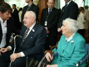 Gough Whitlam and Margaret Whitlam at the apology to the Stolen Generations, Parliament House, Canberra.