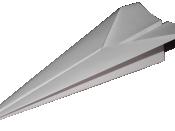 English: Paper airplane