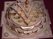 Sri Meru Yantra, produced by the Devipuram temple, Andhra Pradesh, India