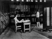 The ENIAC was the first electronic digital computer.