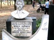 Statue of Raufun Basuniya. Famous Student leader of Dhaka university. Died at 1985, during movement against autocratic government of General Ershad.