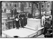 Laying cornor [i.e., corner] stone, Columbia. Pres. Butler & Dean Wheeler  (LOC)