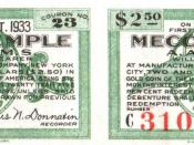 Mecca Temple 1922 Bond Coupons