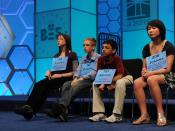 Some of the contestants in the Scripps National Spelling Bee, 2011