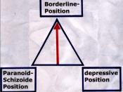 The image illustrates some theory of famous psychologist Melanie Klein, advanced by John Steiner (1979). The theory is about how Borderline Personality Disorder develops and how it interacts with other disorders.