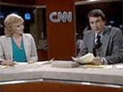 CNN's first broadcast with David Walker and Lois Hart on June 1, 1980.