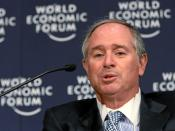 English: DAVOS/SWITZERLAND, 24JAN08 - Stephen A. Schwarzman, Chairman and Chief Executive Officer, The Blackstone Group, USA, captured during the session 'Myths and Realities of Sovereign Wealth Funds' at the Annual Meeting 2008 of the World Economic Foru
