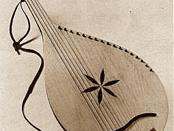 A classical (starosvits'ka) bandura made by Serhiy Rad'ko.