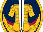 English: US Army Reserve Careers Division SSI, Shoulder Sleeve Insignia, Shoulder Patch