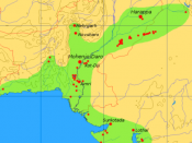 Extent and major sites of the Indus Valley Civilization in pre-modern Pakistan and India 3000 BC.