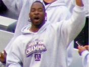 Giants Stadium - Justin Tuck at the Giants Rally after victory in Super Bowl XLII.
